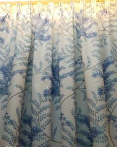 藍色花紋遮光